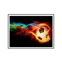 Fire Football Diamond Painting 5D DIY Cross Stitch Embroidery Home Decor 30x40cm