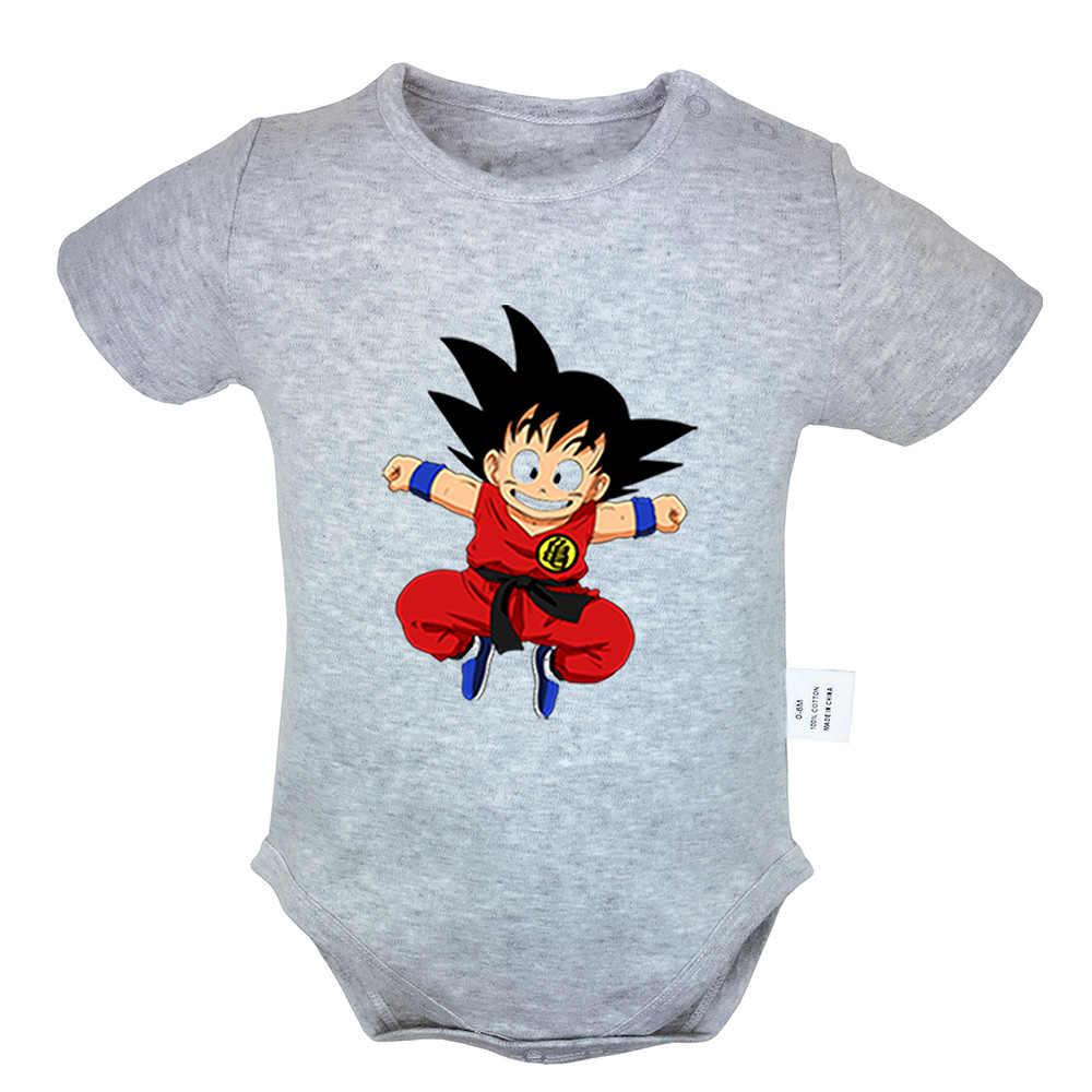Bola de Dragón lucha Goku Rosa labios grandes emoji diseño bebé recién nacido niños niñas trajes mono impresión bebé mono ropa