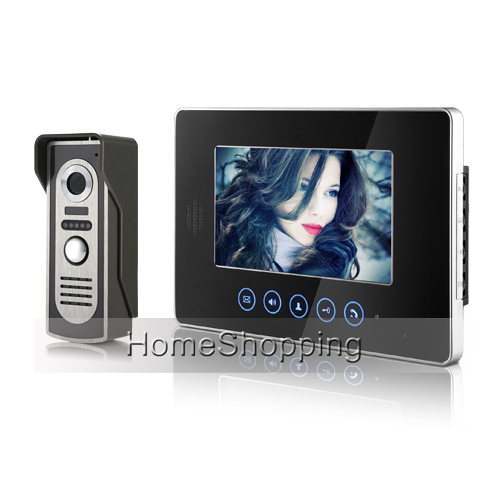 "FREE SHIPPING NEW Touch 7"" Color Screen Video Intercom Door Phone System 1 Monitor + 700TVL Waterproof Doorbell Camera In Stock"