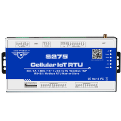 3G Modbus RTU Master & Slave IOT Device Data Acquisition Supports Remotely Restart 64 Extend I/O tags 64-Bit KingPigeon S275