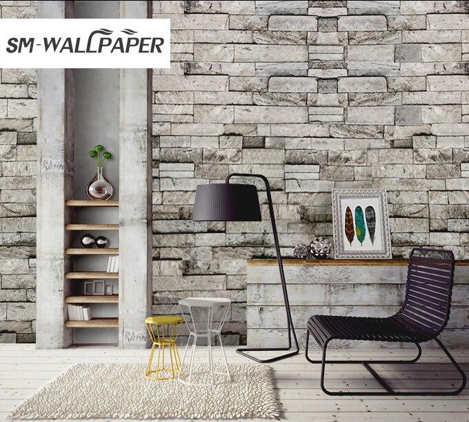 Moderne Stein Wand Dekoration Papier 3d Ziegelsteinmuster Tapeten Tapete Fr  Wohnzimmer Schlafzimmer Hintergrund