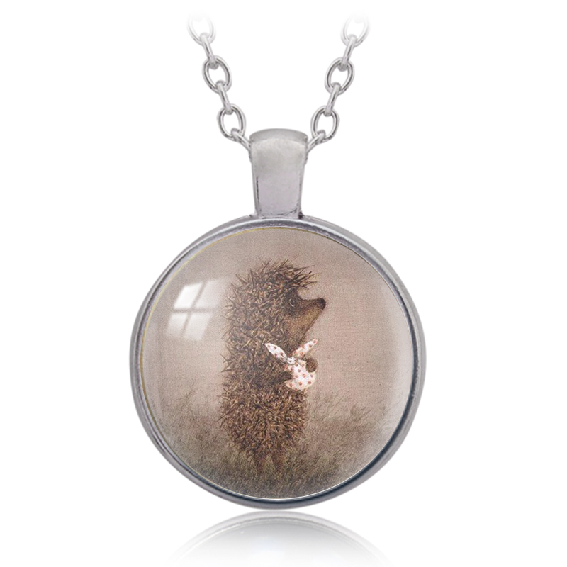 Maxi Necklace Real Collares Collier 2017 Hedgehogs In The Fog Pendant Necklace Dragon Bank Declaration Handmade Fashion Ladies