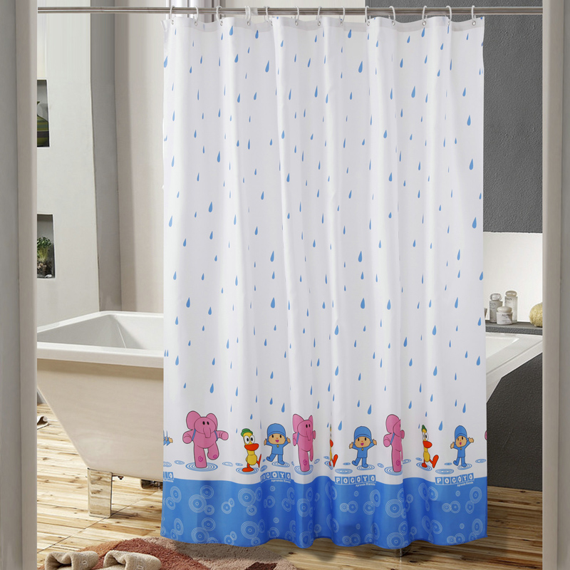 New Cartoon Elephant Child Waterproof Polyester Shower Curtain Bathroom Use rideau de douche cortinas de bano