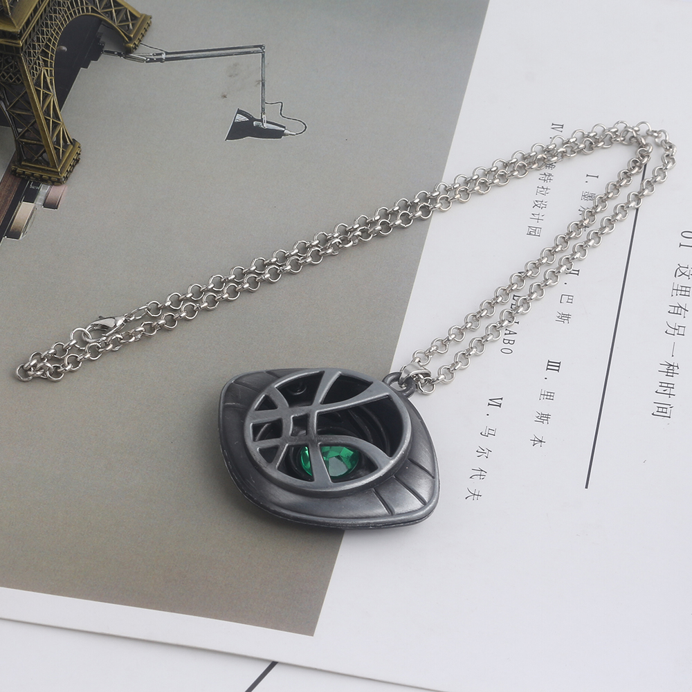 20pc lot Doctor Strange Crystal Eye of Agamotto Necklace Avengers Infinity War Steven Strange Pendant Fashion