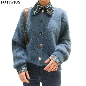 Diamond Button Mohair Sweaters