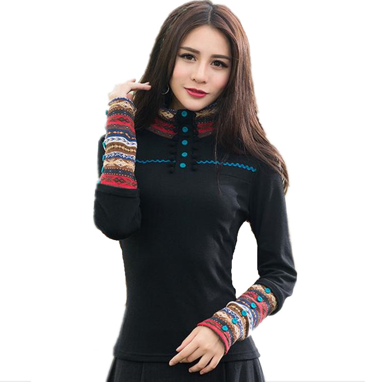 Cheap Sale New Wear High Quality Embroidery Carved Hollow Nail Drill Row Button Bell Cuff Long Sleeve Shirt Skilful Manufacture Women's Clothing