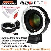 Viltrox EF E II редуктор автофокуса ускоритель переходник для объектива Canon EF к sony NEX E Камера A9 A7 A7R A7SII A6500 NEX 7
