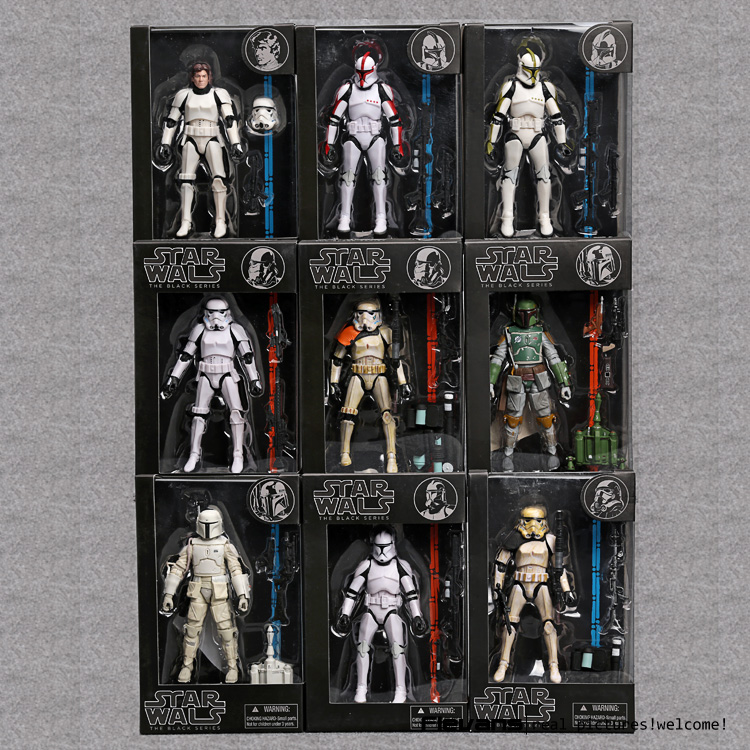 Star Wars The Black Series Stormtrooper Clone Trooper Hab Solo BOBA FETT PVC Action Figure Collectible Model Toy SWFG081