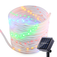 Solar String Lights 33ft 100 LED Solar Rope Lights Decorative Lamps For Patio Garden Camping Christmas