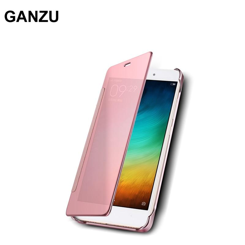 For Xiaomi Redmi Note 4 Note 4X Mirror Case Smart Luxury Hard Plating Plastic Leather Phone Cover For Xiaomi Redmi Pro 5.5 inch