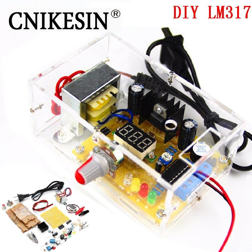 CNIKESIN DIY Kit LM317 ajustable regulado voltaje 220 V a 1,25 V-12,5 V de alimentación placa PCB módulo kits electrónicos