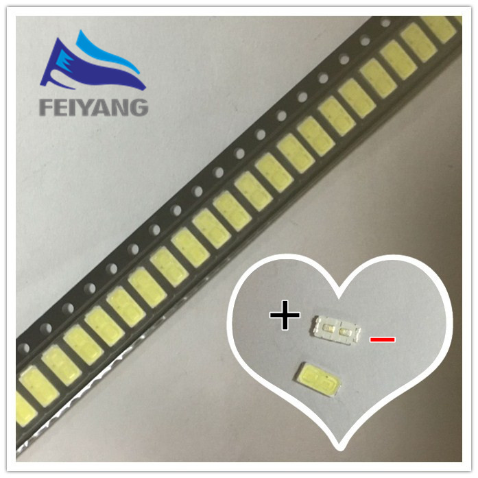 500PCS For <font><b>LG</b></font> <font><b>SMD</b></font> <font><b>LED</b></font> 6030 6V 1W Cold White For TV Backlight <font><b>LED</b></font> Beads best quality LATHT420M image