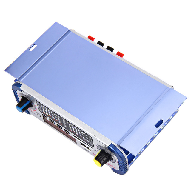 HY601 12V Digital Auto Car Stereo Power Amplifier 2 Channel Sound Mode LED Audio Music Player MP3 Speaker Support USB DVD SD FM 4