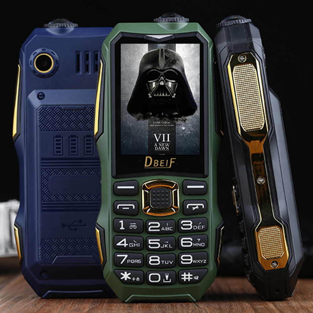 DBEIF Shockproof Long Standby Flashlight With Camera 3.5 Headphone Rugged Outdoor Senior Dual SIM Cards Mobile Cell Phone P051