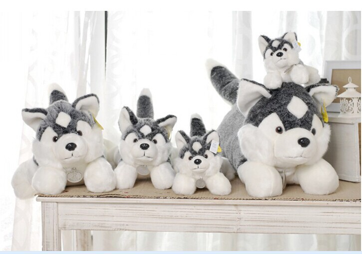 huge lovely Husky dogs high quality husky lying dog toys gray cute dog toy birthday gift about 100cm new electronic wristband patrol dogs kids paw toys patrulla canina toys puppy patrol dogs projection plastic wrist watch toys