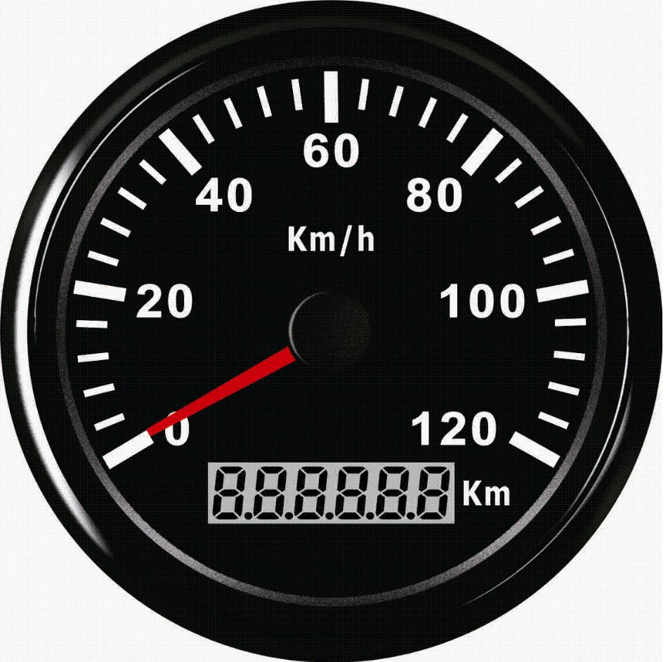 Бренд 1шт 100% новый автомобильный GPS скорость одометров 0-120км/ч спидометры с подсветкой 12В/24В универсальный