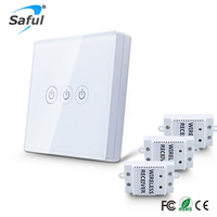 433 Wireless Switch 3 Gang Touch Remote Control Switch Smart Home Touch Key