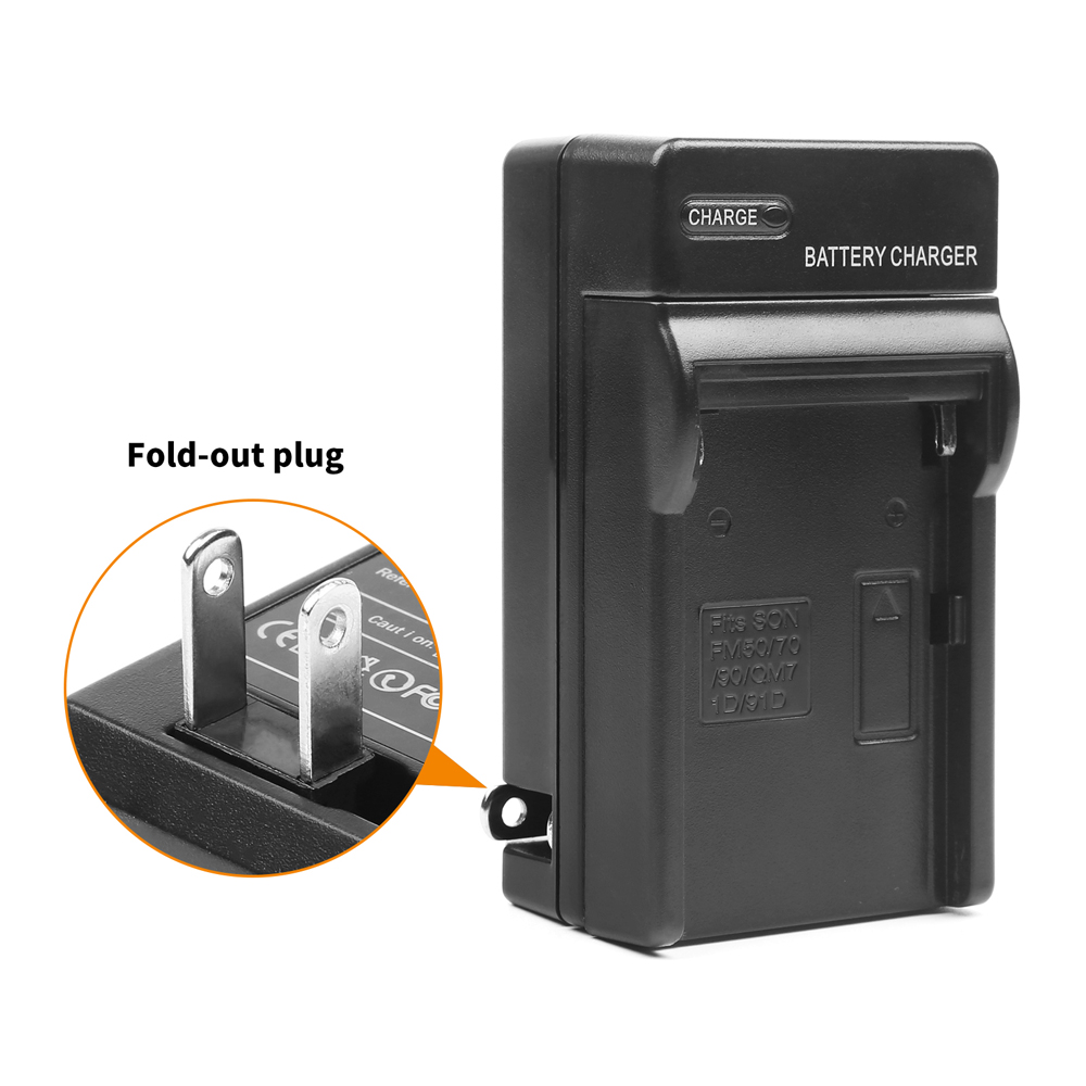 SHOOT-6600mAh-NP-F960-NP-F970-Li-ion-Replacement-Battery-with-Recharge-Charger-For-Sony-Action (2)