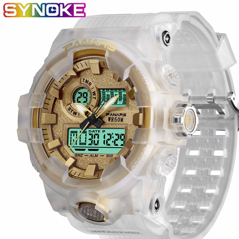 SYNOKE Digital Watches Running Double-Movement Waterproof Luminous Sports Male Alarm