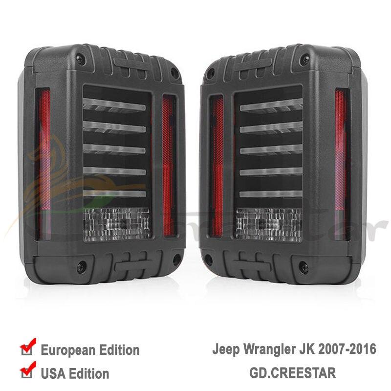 ФОТО GDCREESTAR EU / US Standard Pair of 66w LED Reverse Backup Tail Light for Wrangler JK 2007-2016 4x4 4WD 12V LED Running Lights