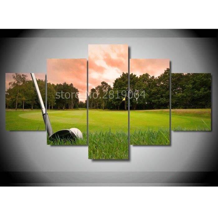 Koop lijst 5 stuks print custom canvas kamer decor art hd golf foto canvas - Decoratie kamer thuis woonkamer ...