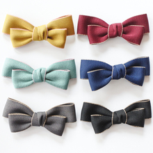 Solid Color Ribbon Bow Alligator Hair Clips For Girls Two Layer Boutique Bows Women Barrettes Adult Accessories
