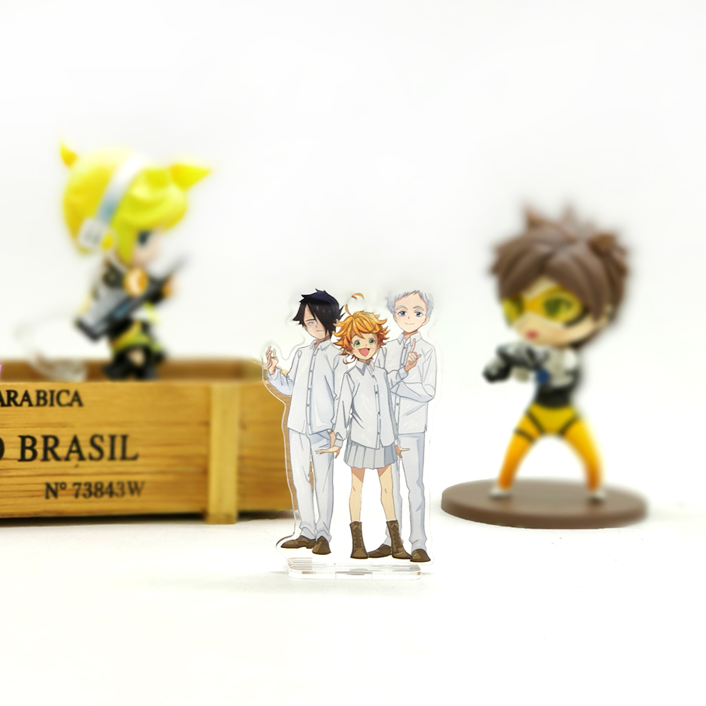Love Thank You Yakusoku No The Promised Neverland Emma Norman Ray Acrylic Stand Figure Model Plate Holder Cake Topper Anime