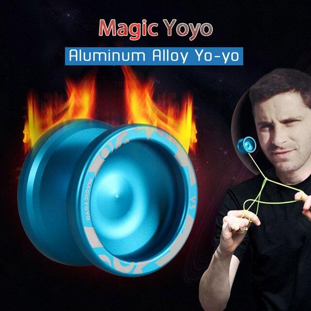 2019 novo metal yoyo yoyo profissional conjunto de alta velocidade yo yo + luva + 5 cordas + yoyos saco s2 yo-yo brinquedos clássicos para crianças