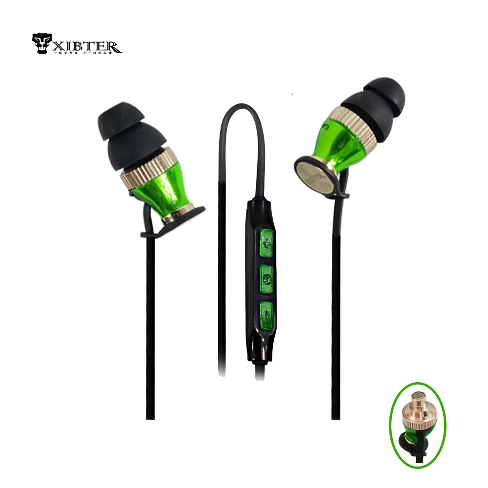 New Stereo Earphone Heavy Bass Sound Earphones With Mic Handsfree For ISO Android Smartphone More Beautiful Than Momentum In-Ear handsfree call metal earphones with mic