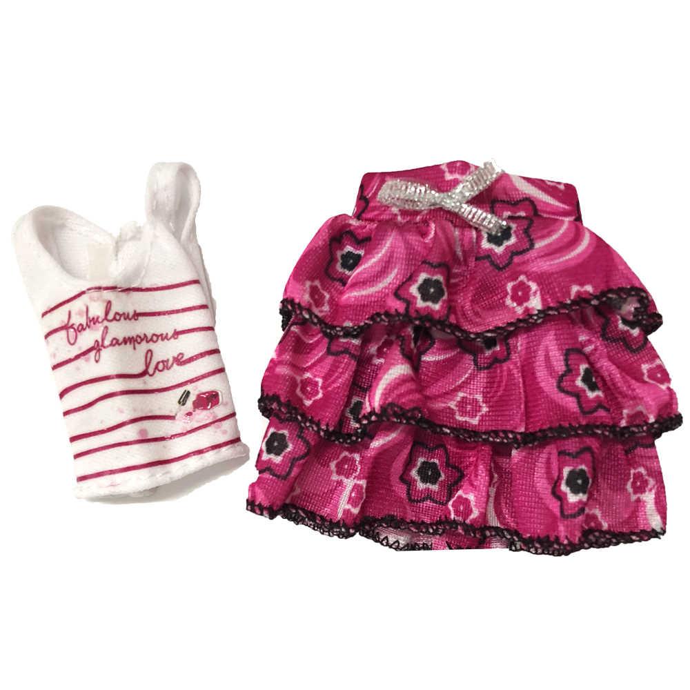 NK 1 комплект Кукольное платье Высокое качество Кукла Висячие наряды платье блузка брюки милые юбки топы Одежда для куклы Барби аксессуары