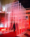 3ftx12ft (90x360 cm) cortina de cristal acrílico para a fase de casamento decoração mandap casamento de cristal arco para casamentos, partido, até mesmo