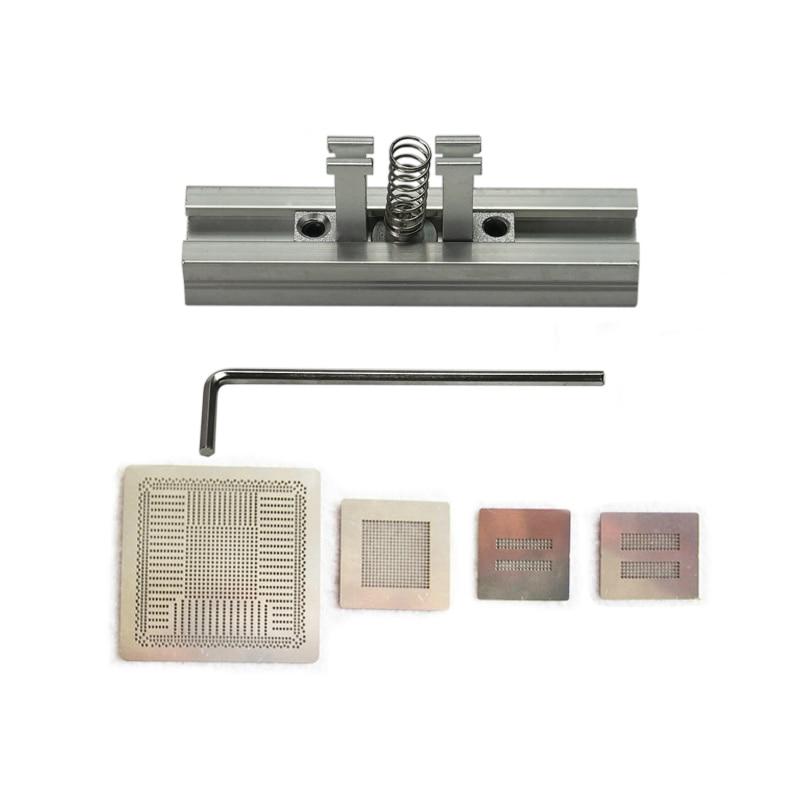 Direct Heat PS4 Stencils CXD90025G CXD90026G K4G41325FC GDDR5 RAM K4B2G1646E DDR3 SDRAM And Heating BGA Reballing Station