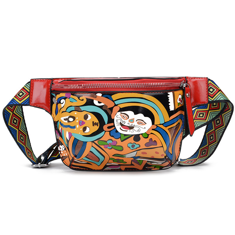 Cartoon Waist Bags For Women Fashion Ladies Chest Bag Handy Fanny Pack Female Waist Pack Waterproof Mobile Phone Purse Girl Bags