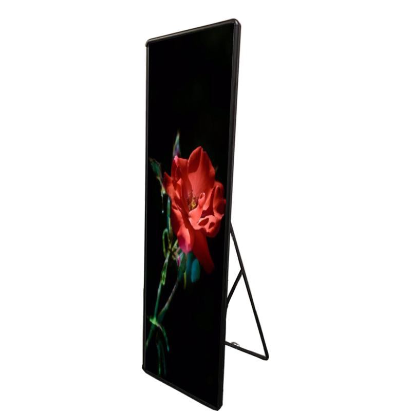 P2.5 High Resolution Indoor Mirror Floor Standing LED Display Video Board LED Poster Display Screen