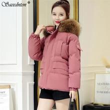 womens Parka Casual Outwear Autumn Winter Hooded Coat Winter Jacket Women Fur Coats Women's Fashion Down Cotton Padded Jackets цены онлайн