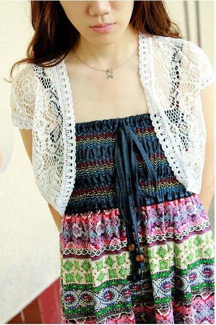 Nueva para mujer Bolero encogimiento de hombros de punto Crochet ...