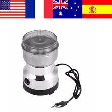 Paslanmaz Çelik Elektrikli Kahve Fasulye Somun Baharat Öğütücü Mill Espresso Kahve Öğütme AB Tak