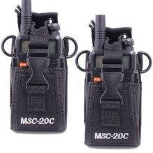 2pcs Abbree MSC 20C 다기능 양방향 라디오 홀더 홀스터 운반 케이스 Yaesu Icom TYT baofeng UV 5R UV 82 BF 888S
