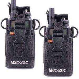 Image 1 - 2pcs Abbree MSC 20C רב פונקציה שתי דרך רדיו מחזיק נרתיק נרתיק עבור Yaesu Icom TYT baofeng UV 5R UV 82 BF 888S