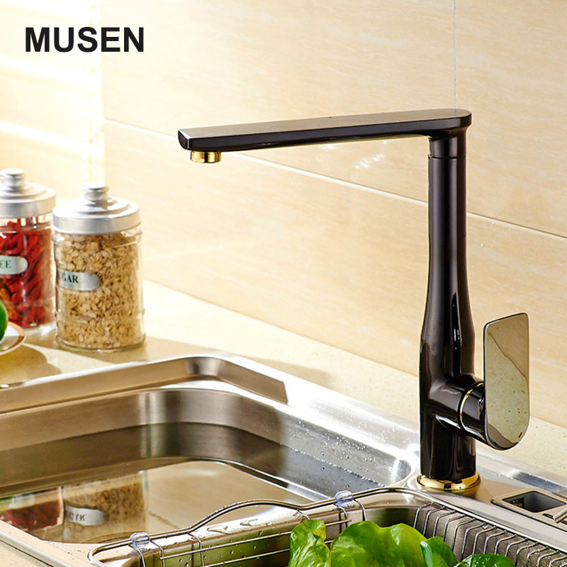 New Europe Design Hot Cold Kitchen Tap Single Handle Quality Brass Black Faucet Sink Tap Water Mixer new arrival tall bathroom sink faucet mixer cold and hot kitchen tap single hole water tap kitchen faucet torneira cozinha