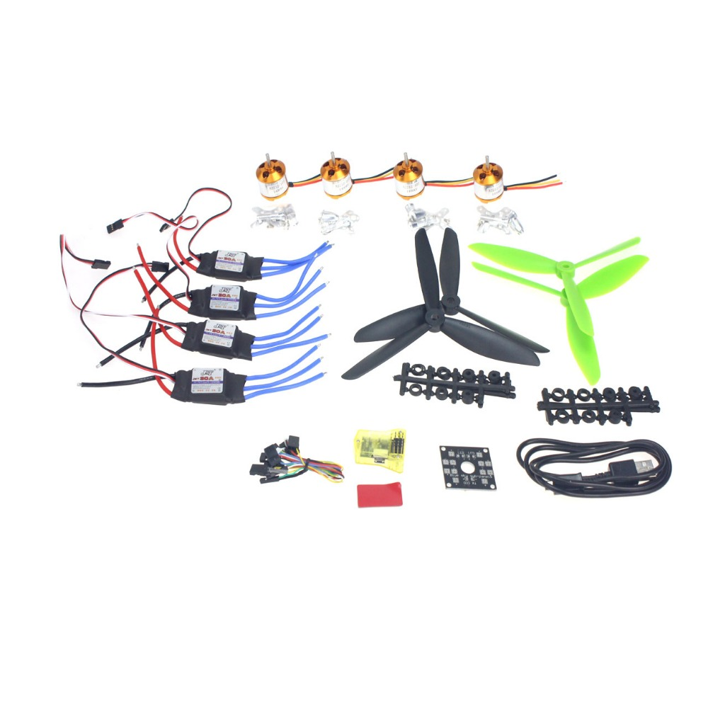 F02047-D DIY 4 Axle  Mini Drone Helicopter Parts ARF Kit: Brushless Motor 30A ESC CC3D Controller Board Flight Controller diy fpv mini drone qav210 zmr210 race quadcopter full carbon frame kit naze32 emax 2204ii kv2300 motor bl12a esc run with 4s