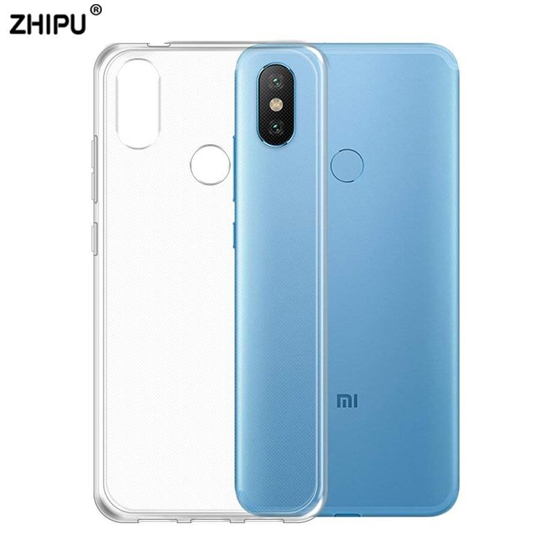 Funda trasera para Xiaomi mi A2 A2 Lite A1 mi A2 mi A1 TPU silicona transparente parachoques ajustable para Xiaomi mi 5X 6X mi 5X mi 6X