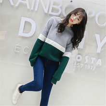 Casual Round Neck Fleece Loose Sweatshirt