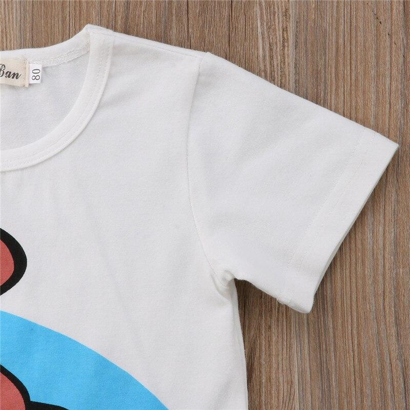Для новорожденных одежда для малышей комплект одежды для мальчиков Дети мультфильм динозавра топ, футболка + Короткие штаны шорты комплект ...