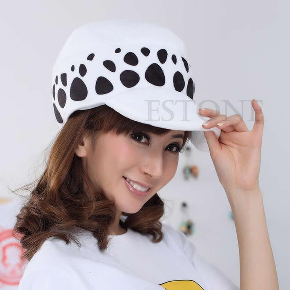 1 PC One Piece Anime Cosplay Doctor Hat Trafalgar Law Cap Halloween Gift