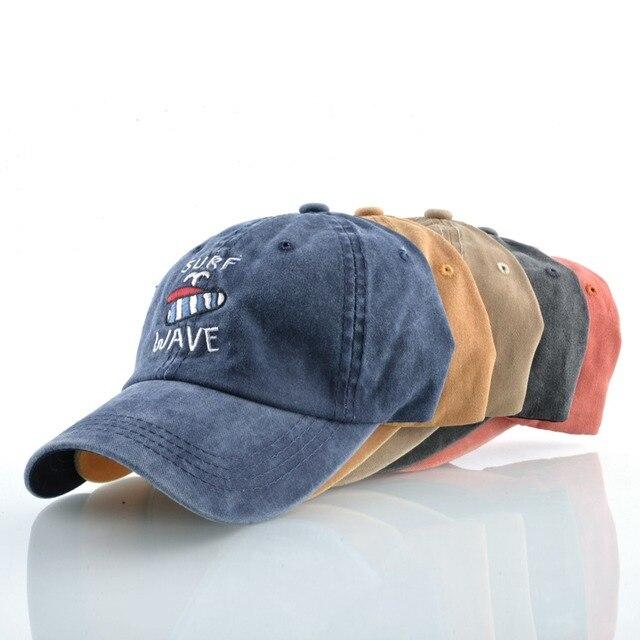 Casquette de Baseball en Denim délavé hommes | Coton brodé, chapeaux de SURF WAVE pour femmes, Snapback chapeau de papa extérieur unisexe Sprot os Gorras