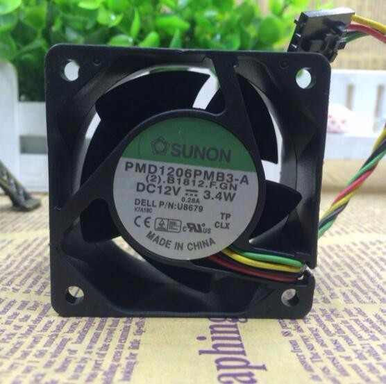 Wholesale: SUNON PMD16PMB3-A DC 12V 3.4W 60*60*38MM 6cm 4-wire PWM Cooling Fan