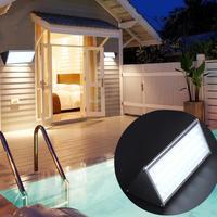 56 LED Solar Light With Radar Motion Sensor Remote Control Outdoor Waterproof Street Wall Emergency Light