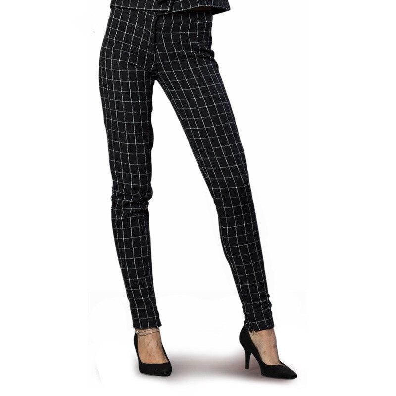 Boutonnage Et Costumes De Motif Blanc Bureau Femme D'affaires Double D'échecs Femmes Fait Formel Travail Pantalon Noir Personnalisés 7wFqp4dn7