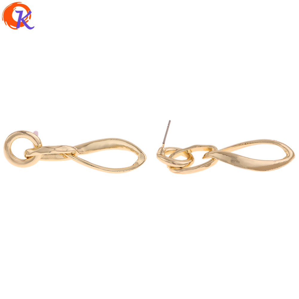 Cordial Design 50Pcs 15*49MM Jewelry Accessories/Earrings Stud/Chain Shape/DIY Making/Hand Made/Jewelry Findings Components